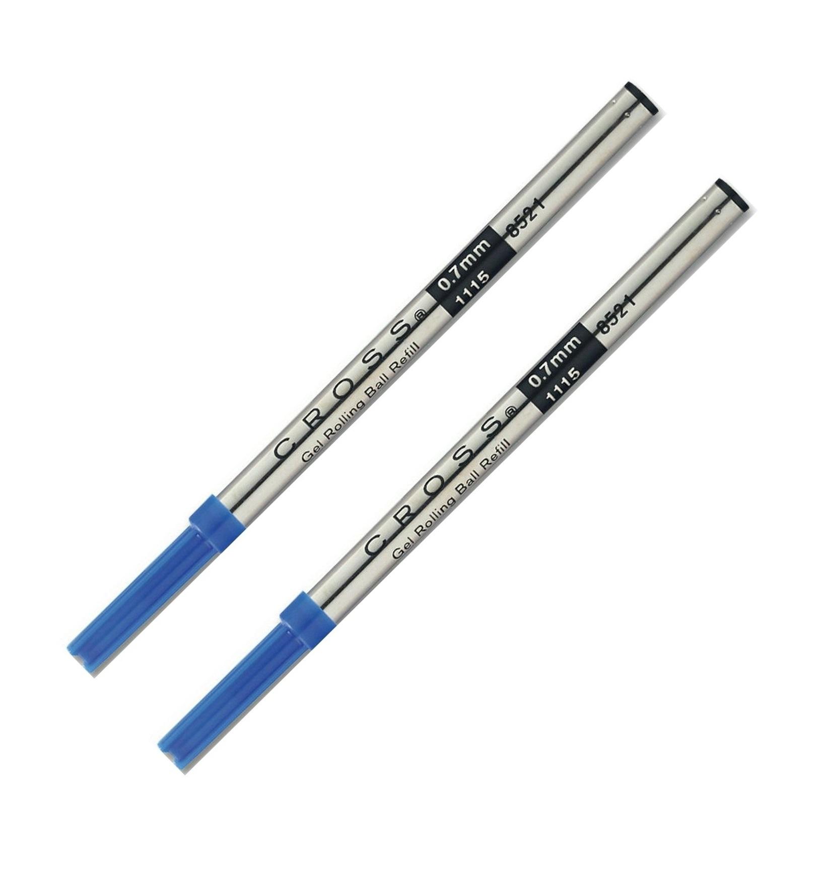 5 packs Cross Gel Ink Rolling Ball Refill for Selectip Pens Blue M 8521